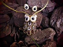 Sady šperkov - Šujtášový Sovičkový set - 11151619_