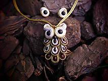 Sady šperkov - Šujtášový Sovičkový set - 11151620_