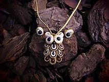 Sady šperkov - Šujtášový Sovičkový set - 11151621_