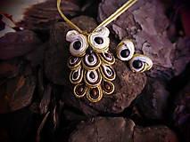 Sady šperkov - Šujtášový Sovičkový set - 11151622_