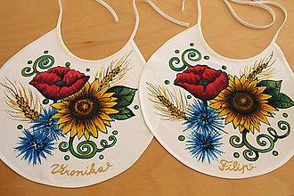 Iné doplnky - Maľované svadobné podbradníky 2 ks - 11149678_