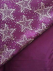 Iný materiál - Taftové vianoce vo fialovom nádychu - 11150163_