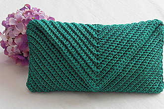 Kabelky - Handmade háčkovaná kabelka listová - 11151675_