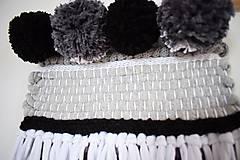 Dekorácie - -Závesná dekorácia/čierna-biela-šedá- - 11150188_
