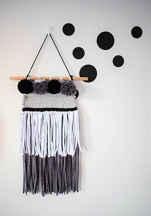 -Závesná dekorácia/čierna-biela-šedá-