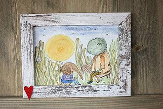 Obrazy - Pán žabiak a sloníča - 11149618_