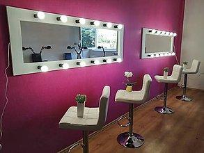 Zrkadlá - Veľký biely svietiaci rám na zrkadlo - 11152171_