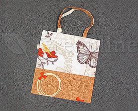 Nákupné tašky - Nákupná taška / Zabalené do ekológie / Motýľ a vtáčik - 11149251_