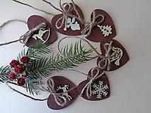 Sada vianočných ozdôb - prírodná