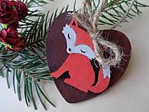 Vianočná ozdoba-líška