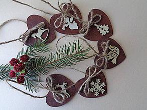Dekorácie - Sada vianočných ozdôb - prírodná - 11151405_