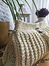 Kabelky - Elegantná háčkovaná kabelka - 11152051_