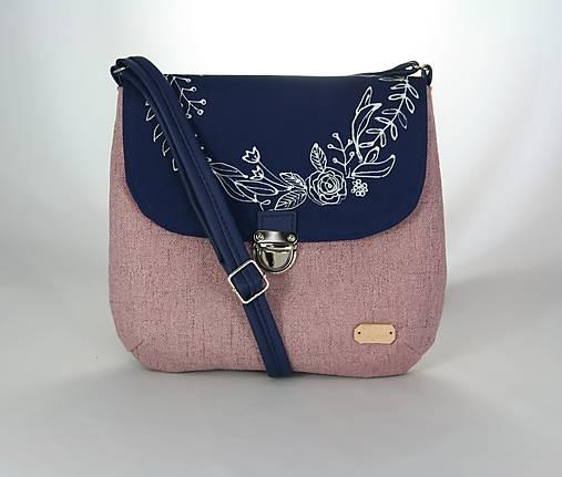 modrotlačová kabelka Ria ružová AM1