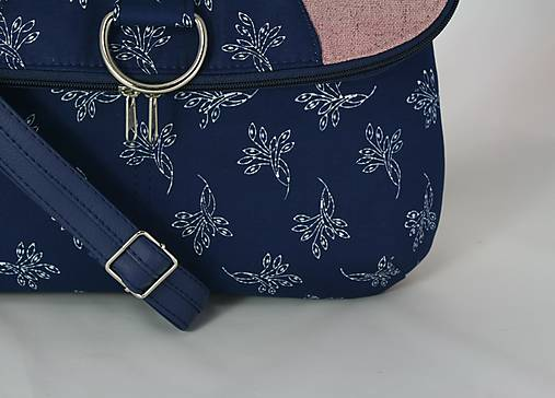 Daria ružová modrotlačová 3 = taška + batoh