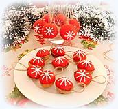 Dekorácie - Plstené vianočné gule - 11149294_