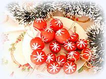 Dekorácie - Plstené vianočné gule - 11149296_