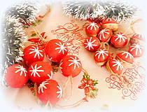 Dekorácie - Plstené vianočné gule - 11149298_