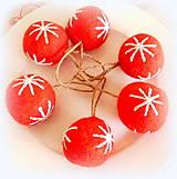 Dekorácie - Plstené vianočné gule - 11149299_