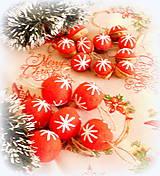Dekorácie - Plstené vianočné gule - 11149301_
