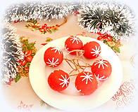 Dekorácie - Plstené vianočné gule - 11149303_