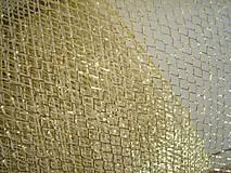 Textil - Zlatý tyl - 11150775_