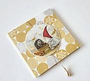 Papiernictvo - Štedrý škriatok I - vianočná pohľadnicová obálka - 11149864_