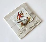 Papiernictvo - Štedrý škriatok III - vianočná pohľadnicová obálka - 11150876_
