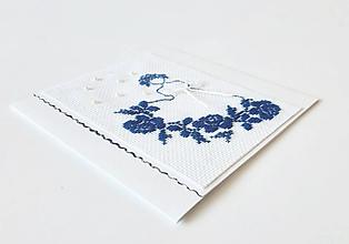 Papiernictvo - Deva IV - folk vyšívaná pohľadnica - 11149489_