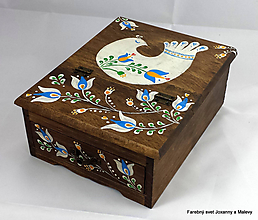 Krabičky - šperkovnica So vtáčatkom - 11148919_
