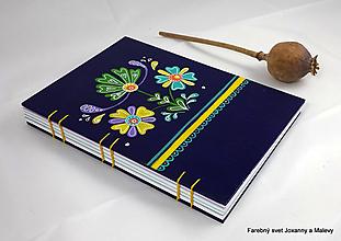 Papiernictvo - zápisník Folklórny fialový - 11148962_