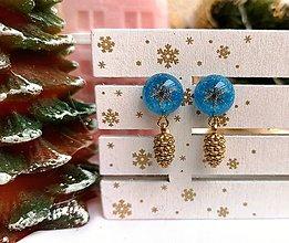 Náušnice - Vianočné náušnice napichovacie so šiškami, chirurgická oceľ - 11152044_