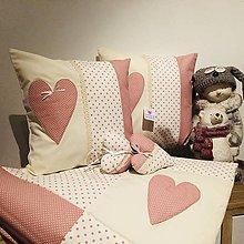 Úžitkový textil - prehoz moderná púdrovo - ružová  kombinácia - 11155743_