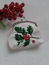 Peňaženky - Čaro vianočné (ručne vyšívaná mincovka) - 11154222_