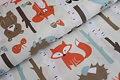 Textil - Metráž zvieratka v lese - 11153673_