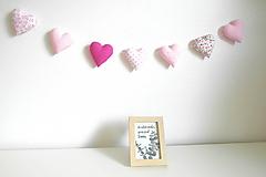 Tabuľky - Ružová girlanda - 11155916_