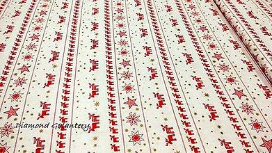 Textil - Bavlnená látka - Sobíci v páse- cena za 10 cm - 11153163_