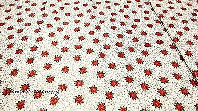 Textil - Bavlnená látka - Vianočná ruža- cena za 10 cm - 11153185_