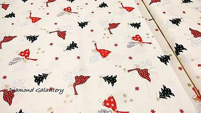 Textil - Bavlnená látka - Vianočné víly- cena za 10 cm - 11154727_
