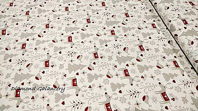 Textil - Bavlnená látka - Vianočný les- cena za 10 cm - 11154750_