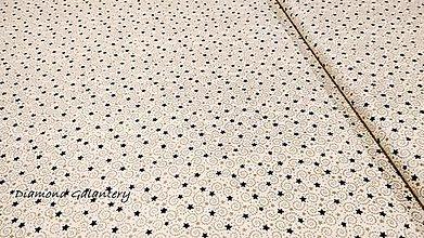Textil - Bavlnená látka - Hviezdičky zelené- cena za 10 cm - 11154758_