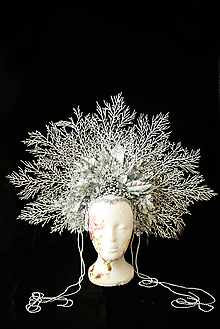 Ozdoby do vlasov - Koruna Ľadová kráľovná - 11156427_