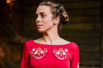 Šaty - Červené krátke šaty Poľana - 11153319_