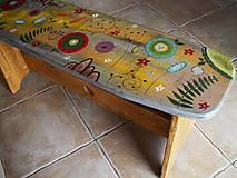 Nábytok - Maľovaná lavička - 11152950_