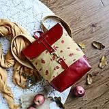 Batohy - Textilno-kožený batoh Hugo (Maliny) - 11153568_