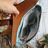Batohy - Textilno-kožený batoh Hugo (Hnedo-modrý) - 11153619_