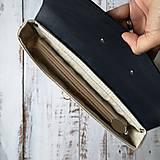 Batohy - Textilno-kožený batoh Hugo (Hnedo-modrý) - 11153620_