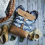 - Textilno-kožený batoh Hugo (Veľryby) - 11153646_