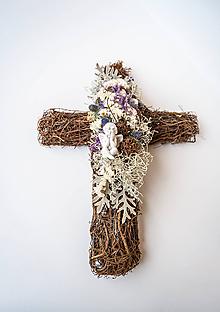 Dekorácie - Krížik na hrob s anjelom - 11156484_