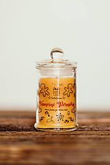 Svietidlá a sviečky - Sviečka zo 100% včelieho vosku - Vianočné Perníčky 125g/30hod (sviečka) - 11153079_