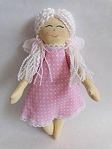 Hračky - Látková bábika - anjel - 11156012_